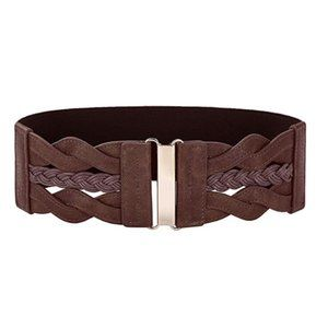 Retro Wide Waist Elastic Cinch Belt